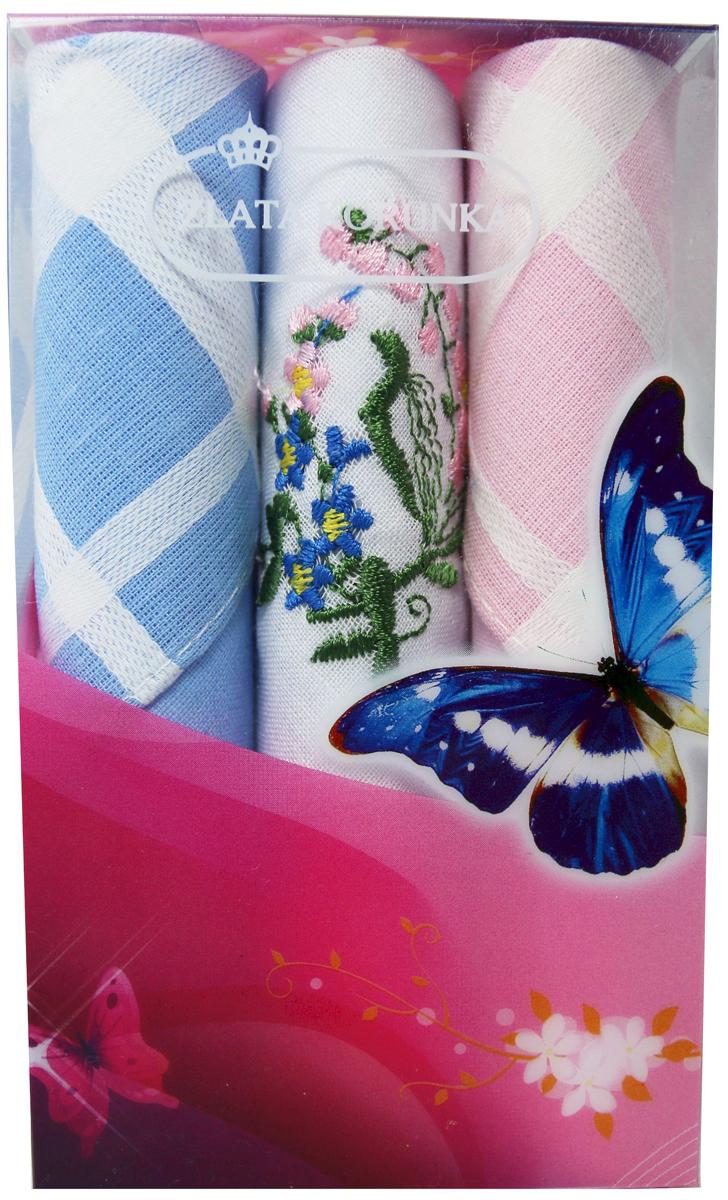 Платок носовой женский Zlata Korunka, цвет: мультиколор, 3 шт. 40423-132. Размер 28 х 28 см40423-132Платки носовые женские в упаковке по 3 шт. Носовые платки изготовлены из 100% хлопка, так как этот материал приятен в использовании, хорошо стирается, не садится, отлично впитывает влагу. Размер: 28 х 28..