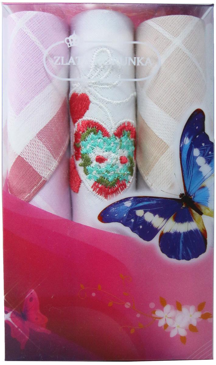 Платок носовой женский Zlata Korunka, цвет: мультиколор, 3 шт. 40423-14. Размер 28 х 28 см40423-14Платки носовые женские в упаковке по 3 шт. Носовые платки изготовлены из 100% хлопка, так как этот материал приятен в использовании, хорошо стирается, не садится, отлично впитывает влагу. Размер: 28 х 28..