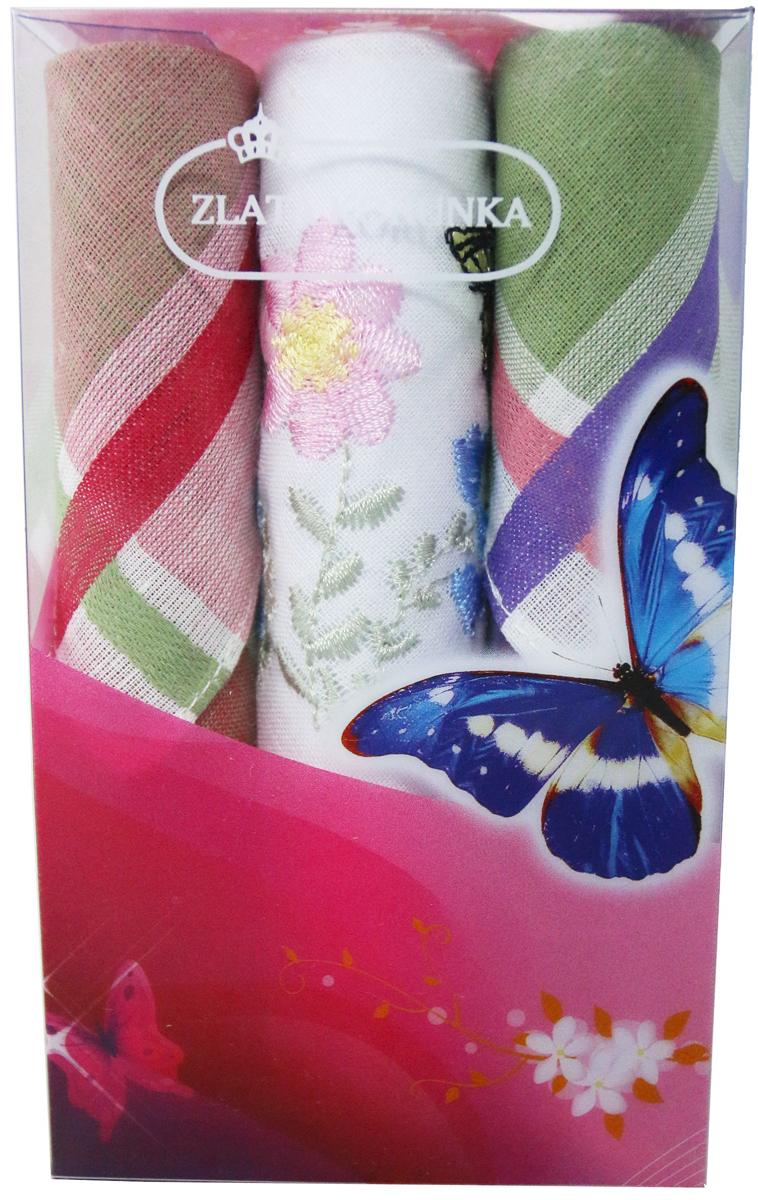 Платок носовой женский Zlata Korunka, цвет: мультиколор, 3 шт. 40423-37. Размер 28 х 28 см40423-37Платки носовые женские в упаковке по 3 шт. Носовые платки изготовлены из 100% хлопка, так как этот материал приятен в использовании, хорошо стирается, не садится, отлично впитывает влагу. Размер: 28 х 28..