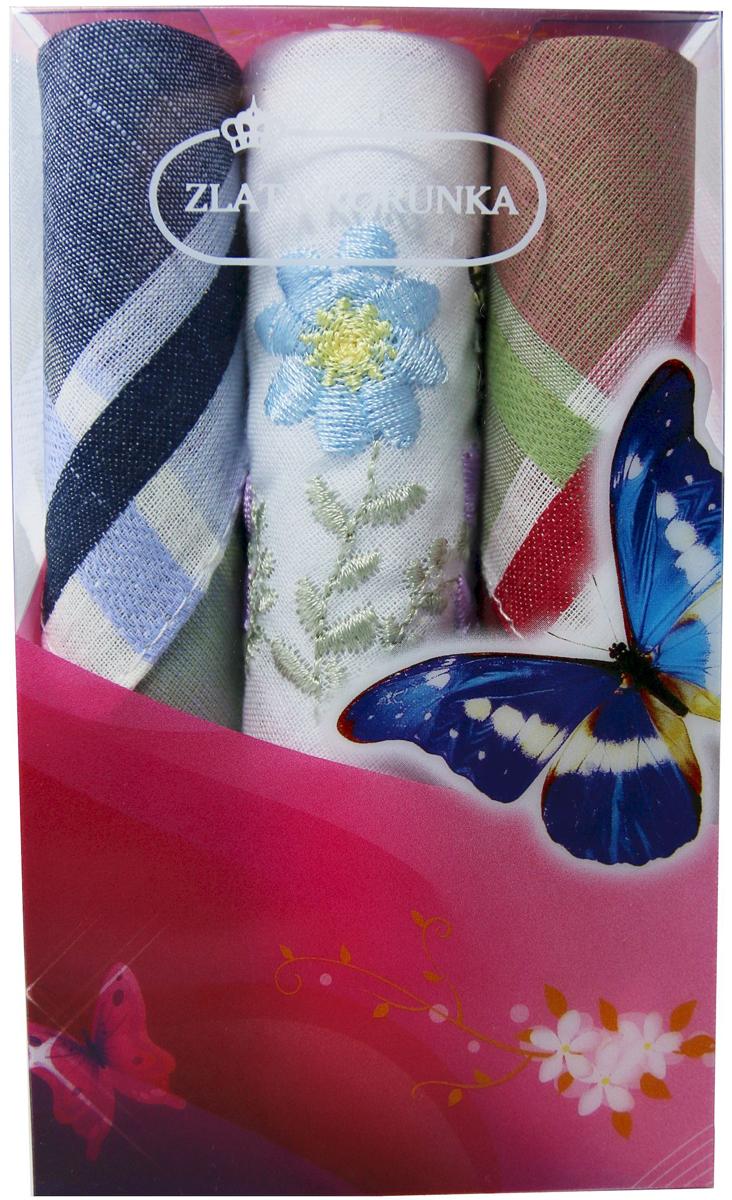 Платок носовой женский Zlata Korunka, цвет: мультиколор, 3 шт. 40423-39. Размер 28 х 28 см40423-39Платки носовые женские в упаковке по 3 шт. Носовые платки изготовлены из 100% хлопка, так как этот материал приятен в использовании, хорошо стирается, не садится, отлично впитывает влагу. Размер: 28 х 28..