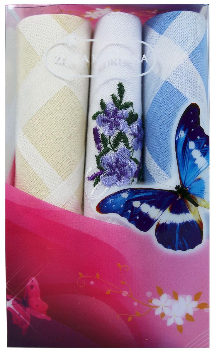 Платок носовой женский Zlata Korunka, цвет: мультиколор, 3 шт. 40423-40. Размер 28 х 28 см40423-40Платки носовые женские в упаковке по 3 шт. Носовые платки изготовлены из 100% хлопка, так как этот материал приятен в использовании, хорошо стирается, не садится, отлично впитывает влагу. Размер: 28 х 28..