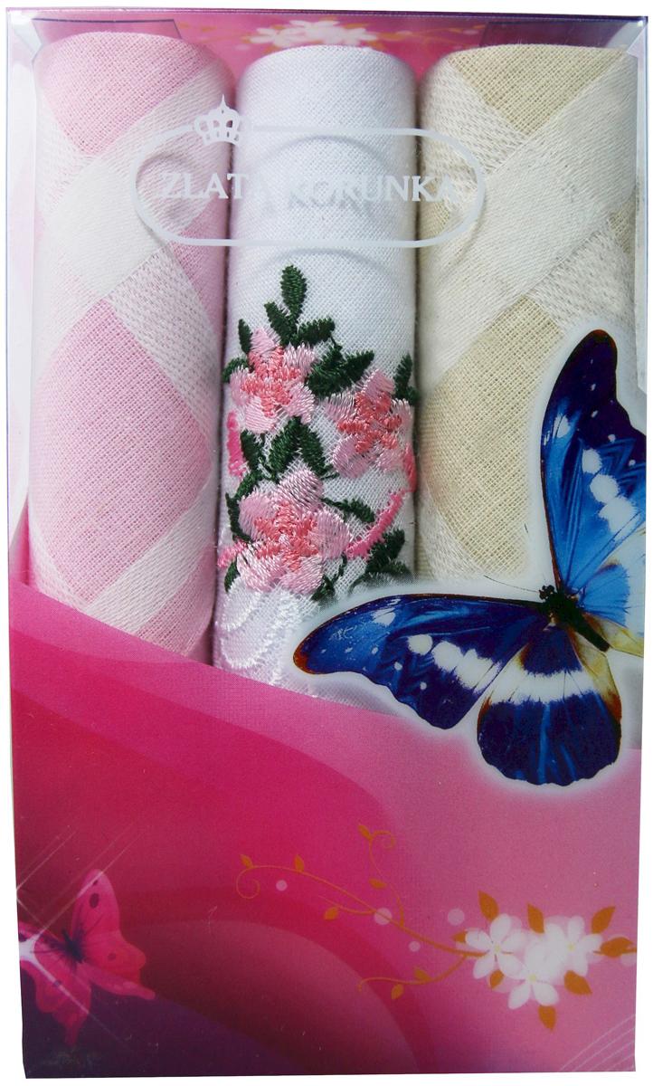 Платок носовой женский Zlata Korunka, цвет: мультиколор, 3 шт. 40423-41. Размер 28 х 28 см40423-41Платки носовые женские в упаковке по 3 шт. Носовые платки изготовлены из 100% хлопка, так как этот материал приятен в использовании, хорошо стирается, не садится, отлично впитывает влагу. Размер: 28 х 28..