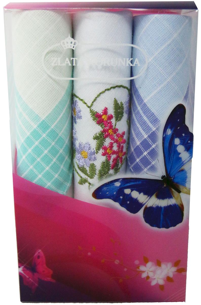 Платок носовой женский Zlata Korunka, цвет: мультиколор, 3 шт. 40423-44. Размер 28 х 28 см40423-44Платки носовые женские в упаковке по 3 шт. Носовые платки изготовлены из 100% хлопка, так как этот материал приятен в использовании, хорошо стирается, не садится, отлично впитывает влагу. Размер: 28 х 28..