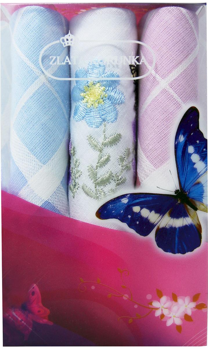 Платок носовой женский Zlata Korunka, цвет: мультиколор, 3 шт. 40423-49. Размер 28 х 28 см40423-49Платки носовые женские в упаковке по 3 шт. Носовые платки изготовлены из 100% хлопка, так как этот материал приятен в использовании, хорошо стирается, не садится, отлично впитывает влагу. Размер: 28 х 28..