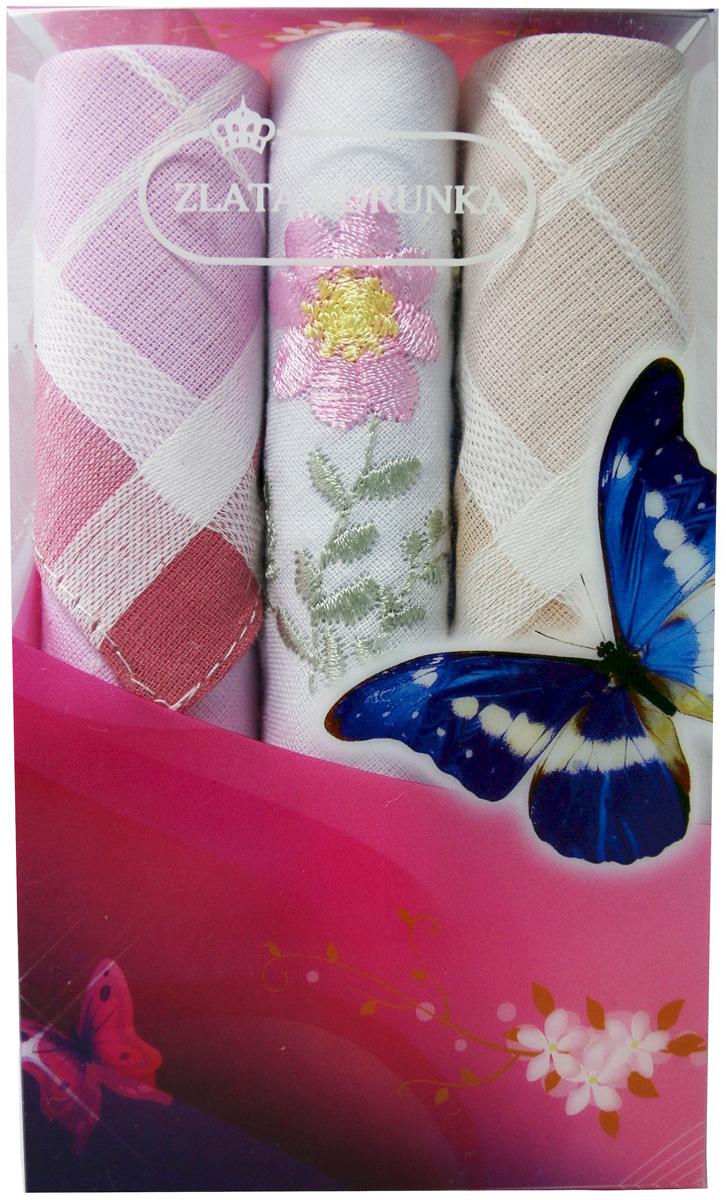Платок носовой женский Zlata Korunka, цвет: мультиколор, 3 шт. 40423-50. Размер 28 х 28 см40423-50Платки носовые женские в упаковке по 3 шт. Носовые платки изготовлены из 100% хлопка, так как этот материал приятен в использовании, хорошо стирается, не садится, отлично впитывает влагу. Размер: 28 х 28..
