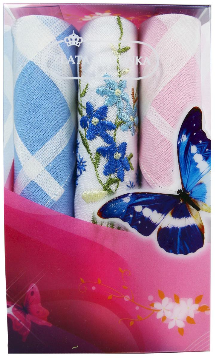 Платок носовой женский Zlata Korunka, цвет: мультиколор, 3 шт. 40423-52. Размер 28 х 28 см40423-52Платки носовые женские в упаковке по 3 шт. Носовые платки изготовлены из 100% хлопка, так как этот материал приятен в использовании, хорошо стирается, не садится, отлично впитывает влагу. Размер: 28 х 28..