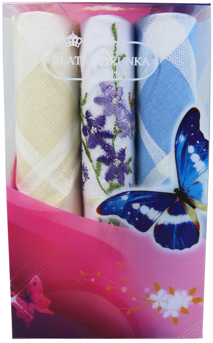 Платок носовой женский Zlata Korunka, цвет: мультиколор, 3 шт. 40423-53. Размер 28 х 28 см40423-53Платки носовые женские в упаковке по 3 шт. Носовые платки изготовлены из 100% хлопка, так как этот материал приятен в использовании, хорошо стирается, не садится, отлично впитывает влагу. Размер: 28 х 28..