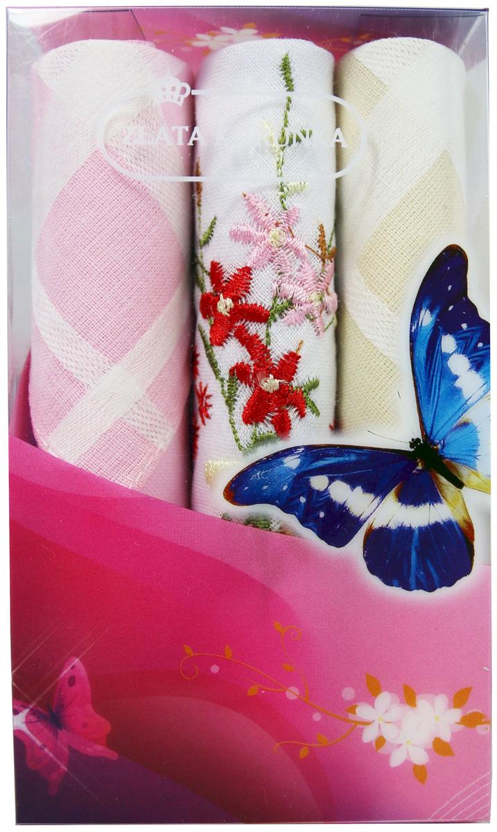 Платок носовой женский Zlata Korunka, цвет: мультиколор, 3 шт. 40423-54. Размер 28 х 28 см40423-54Платки носовые женские в упаковке по 3 шт. Носовые платки изготовлены из 100% хлопка, так как этот материал приятен в использовании, хорошо стирается, не садится, отлично впитывает влагу. Размер: 28 х 28..