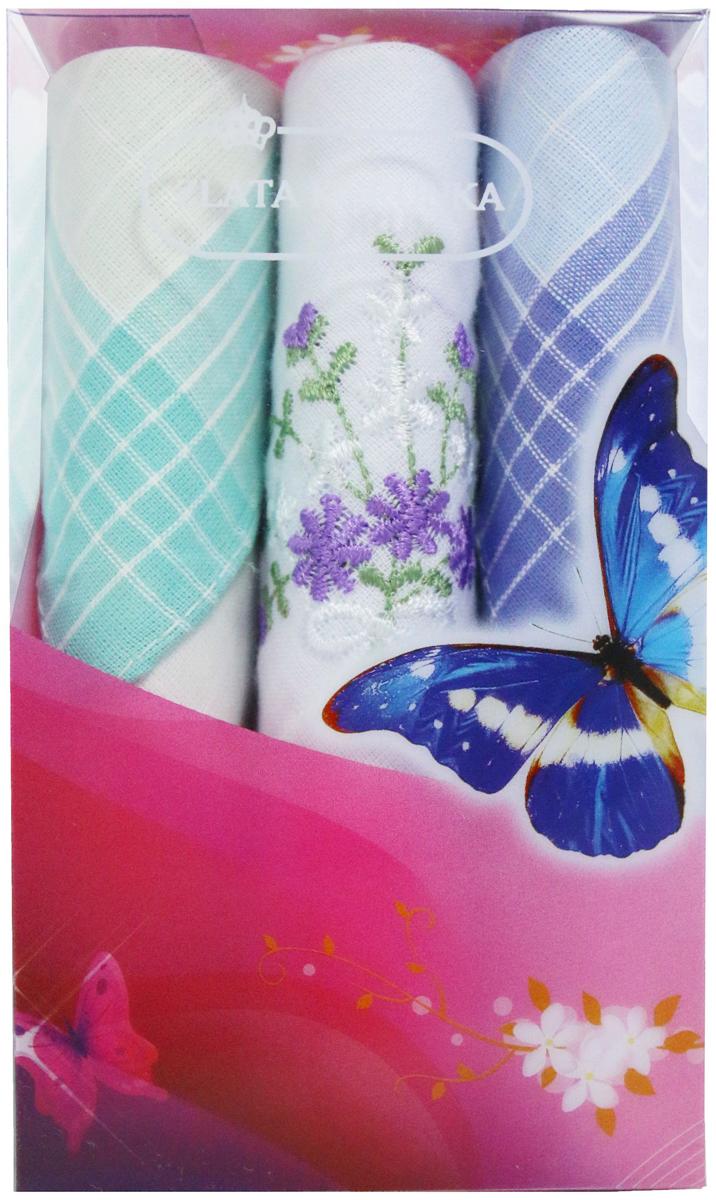 Платок носовой женский Zlata Korunka, цвет: мультиколор, 3 шт. 40423-70. Размер 28 х 28 см40423-70Платки носовые женские в упаковке по 3 шт. Носовые платки изготовлены из 100% хлопка, так как этот материал приятен в использовании, хорошо стирается, не садится, отлично впитывает влагу. Размер: 28 х 28..