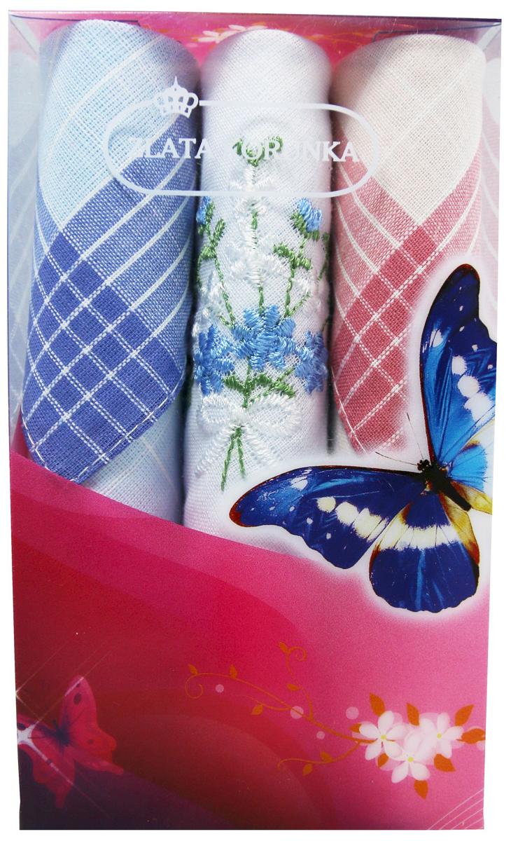 Платок носовой женский Zlata Korunka, цвет: мультиколор, 3 шт. 40423-72. Размер 28 х 28 см40423-72Платки носовые женские в упаковке по 3 шт. Носовые платки изготовлены из 100% хлопка, так как этот материал приятен в использовании, хорошо стирается, не садится, отлично впитывает влагу. Размер: 28 х 28..