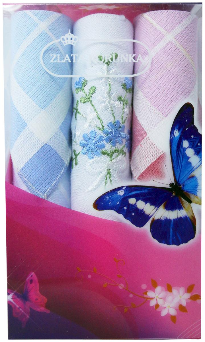 Платок носовой женский Zlata Korunka, цвет: мультиколор, 3 шт. 40423-74. Размер 28 х 28 см40423-74Платки носовые женские в упаковке по 3 шт. Носовые платки изготовлены из 100% хлопка, так как этот материал приятен в использовании, хорошо стирается, не садится, отлично впитывает влагу. Размер: 28 х 28..