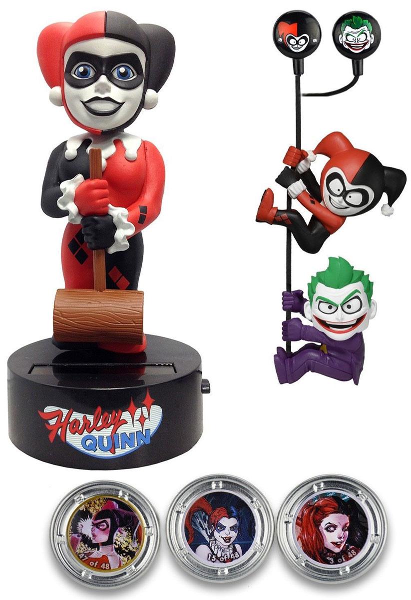 DC Comics. Набор Harley Quinn (Фигурка на солнечной батарее, наушники, держатели проводов 2 шт)