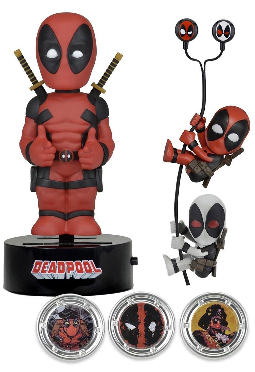 Marvel. Набор Deadpool (Фигурка на солнечной батарее, наушники, держатели проводов 2 шт)