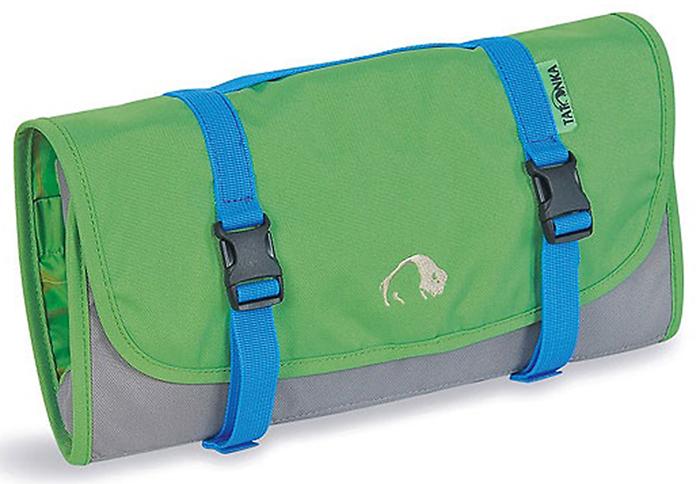 Складная сумка-косметичка Tatonka Travelkit, цвет: зеленый2805.007Сумка полностью раскладывается, оснащена множеством отделений и небьющимся зеркальцем.