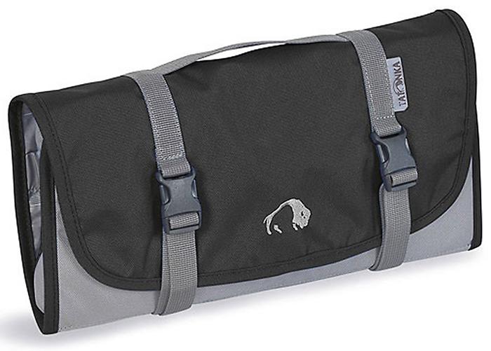 Складная сумка-косметичка Tatonka Travelkit, цвет: черный2805.040Сумка полностью раскладывается, оснащена множеством отделений и небьющимся зеркальцем.