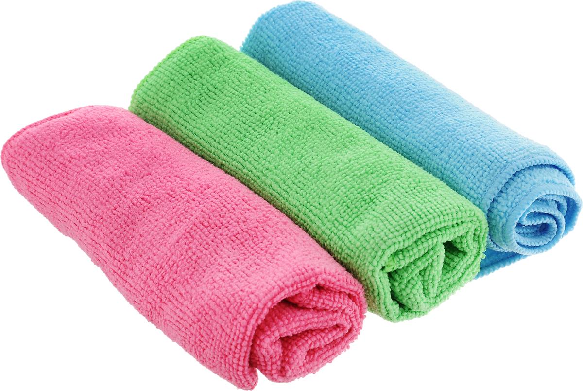 Набор салфеток для уборки Sol, из микрофибры, цвет: розовый, салатовый, голубой, 30 x 30 см, 3 шт10035_розовый/салатовый/голубойНабор салфеток Sol выполнен из микрофибры. Микрофибра - это ткань из тонких микроволокон, которая эффективно очищает поверхности благодаря капиллярному эффекту между ними. Такая салфетка может использоваться как для сухой, так и для влажной уборки. Деликатно очищает любые поверхности, не оставляя следов и разводов. Идеально подходит для протирки полированной мебели. Сохраняет свои свойства после стирки.
