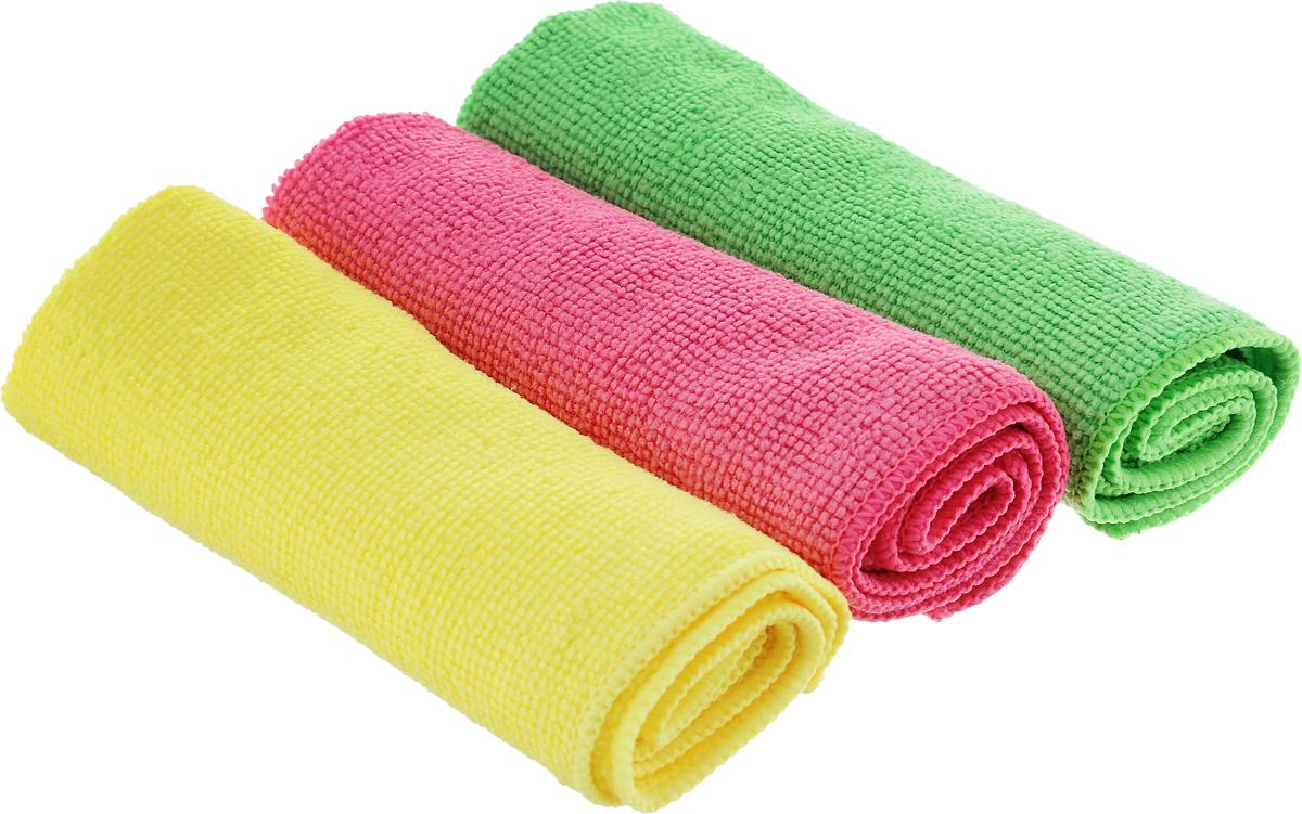 Набор салфеток для уборки Sol, из микрофибры, цвет: салатовый, желтый, розовый, 30 x 30 см, 3 шт10035_салатовый/желтый/розовыйНабор салфеток Sol выполнен из микрофибры. Микрофибра - это ткань из тонких микроволокон, которая эффективно очищает поверхности благодаря капиллярному эффекту между ними. Такая салфетка может использоваться как для сухой, так и для влажной уборки. Деликатно очищает любые поверхности, не оставляя следов и разводов. Идеально подходит для протирки полированной мебели. Сохраняет свои свойства после стирки.
