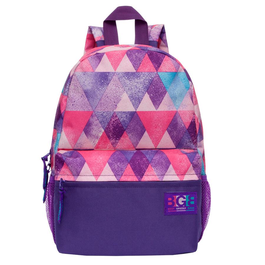Рюкзак городской женский Grizzly, цвет: темно-фиолетовый, розовый, 16 л. RD-750-1/3