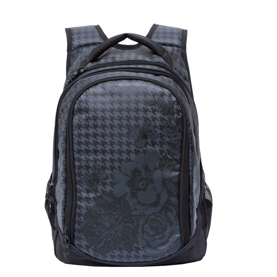Рюкзак молодежный женский Grizzly, цвет: черный, серый, 22 л. RD-742-1/3RD-742-1/3Рюкзак молодежный, три отделения, боковые карманы из сетки, внутренний карман на молнии, внутренний составной пенал-органайзер, укрепленная спинка, мягкая укрепленная ручка, укрепленные лямки