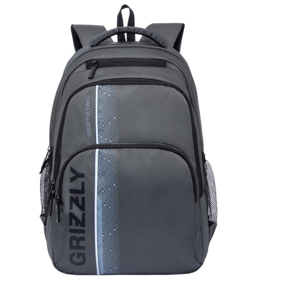 Рюкзак городской мужской Grizzly, цвет: темно-серый, 24 л. RU-707-1/4