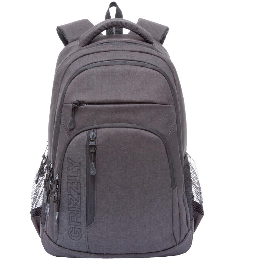 Рюкзак молодежный мужской Grizzly, цвет: черный, 26 л. RU-700-5/3RU-700-5/3Рюкзак молодежный, два отделения, два передних кармана на молнии, объемный карман на молнии на передней стенке, боковые карманы из сетки, внутренний подвесной карман на молнии, анатомическая спинка, дополнительная ручка-петля, мягкая укрепленная ручка, укрепленные лямки