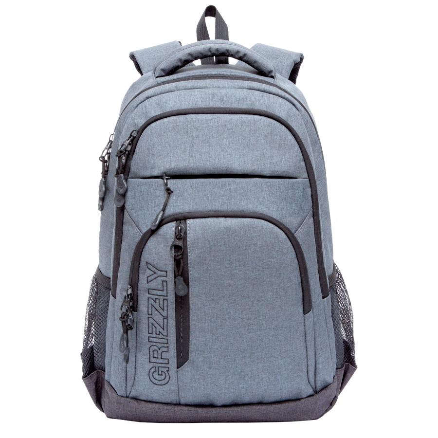 Рюкзак молодежный мужской Grizzly, цвет: темно-серый, 26 л. RU-700-5/2RU-700-5/2Рюкзак молодежный, два отделения, два передних кармана на молнии, объемный карман на молнии на передней стенке, боковые карманы из сетки, внутренний подвесной карман на молнии, анатомическая спинка, дополнительная ручка-петля, мягкая укрепленная ручка, укрепленные лямки