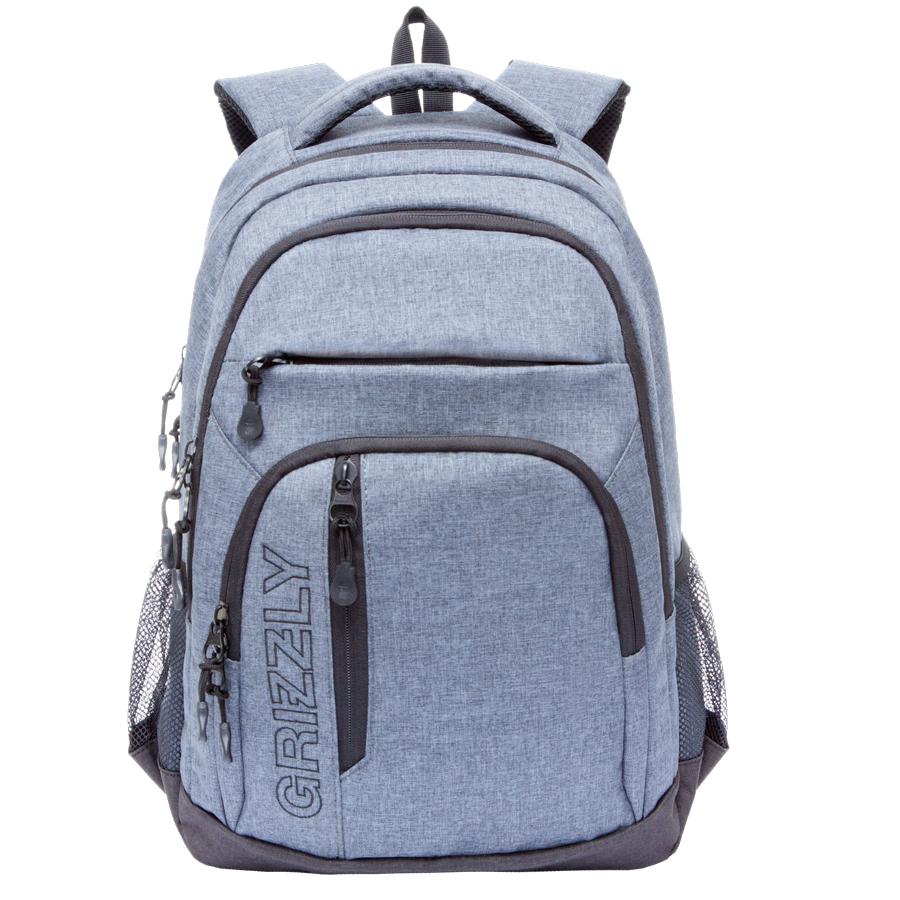 Рюкзак молодежный мужской Grizzly, цвет: серый, 26 л. RU-700-5/1RU-700-5/1Рюкзак молодежный, два отделения, два передних кармана на молнии, объемный карман на молнии на передней стенке, боковые карманы из сетки, внутренний подвесной карман на молнии, анатомическая спинка, дополнительная ручка-петля, мягкая укрепленная ручка, укрепленные лямки