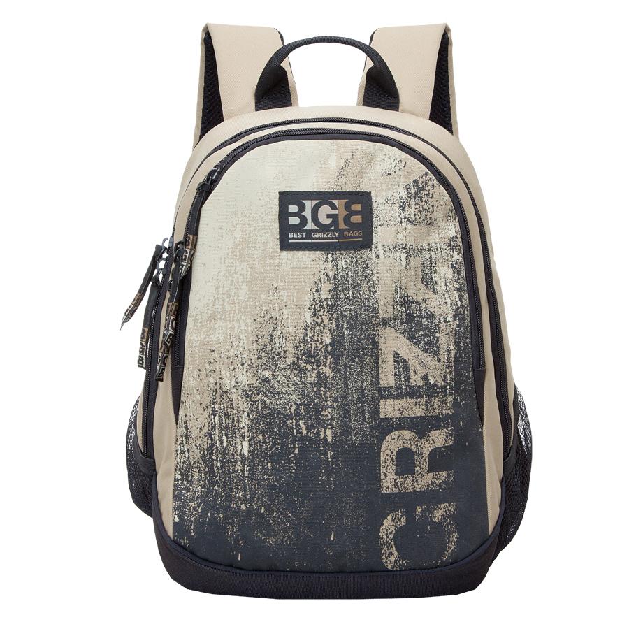 Рюкзак молодежный мужской Grizzly, цвет: бежевый, 22 л. RU-603-1/3RU-603-1/3Рюкзак молодежный, два отделения, карман на молнии на передней стенке, боковые карманы из сетки, внутренний карман на молнии, внутренний карман-пенал для карандашей, внутренний подвесной карман на молнии, жесткая анатомическая спинка, дополнительная ручка-петля, укрепленные лямки