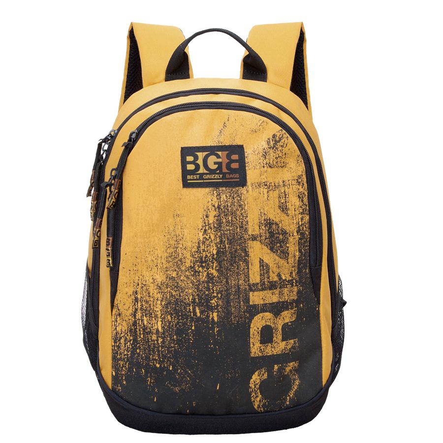Рюкзак молодежный мужской Grizzly, цвет: желтый, 22 л. RU-603-1/2RU-603-1/2Рюкзак молодежный, два отделения, карман на молнии на передней стенке, боковые карманы из сетки, внутренний карман на молнии, внутренний карман-пенал для карандашей, внутренний подвесной карман на молнии, жесткая анатомическая спинка, дополнительная ручка-петля, укрепленные лямки