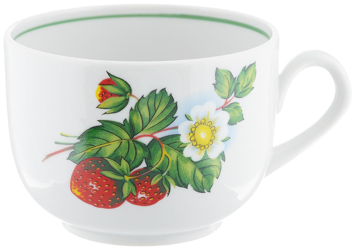 Чашка чайная Фарфор Вербилок Август. Цветущая земляника, 300 мл767149КЧайная чашка Фарфор Вербилок Август. Цветущая земляника способна скрасить любое чаепитие. Изделие выполнено из высококачественного фарфора. Посуда из такого материала позволяет сохранить истинный вкус напитка, а также помогает ему дольше оставаться теплым. Диаметр по верхнему краю: 8,5 см. Высота чашки: 6,5 см.