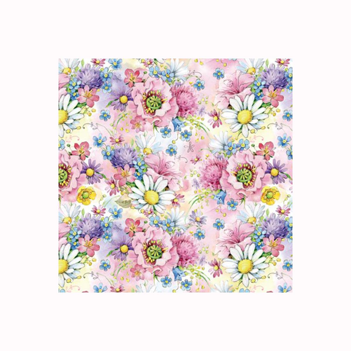 Бумага упаковочная Хобби и ты Полевые цветы, 67,4 х 97,4 см. 583242_ HY00808583242_ HY00808