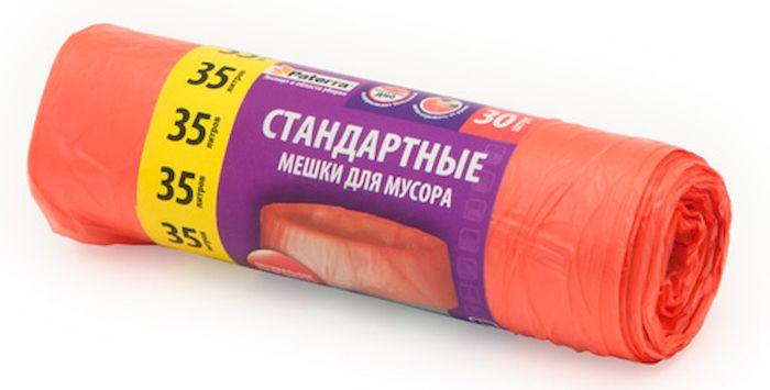 Мешки для мусора Paterra, цвет: красный, 35 л, 30 шт106-026Мешки Paterra, выполненные из высокопрочного и эластичного полиэтилена, обеспечат чистоту и гигиену в квартире. Они удобны для сбора и утилизации мусора, занимают мало места, практичны в использовании. Благодаря удобным размерам, мешки легко вкладываются в ведро. Количество: 30 шт. Размер мешка: 52 х 57 см.
