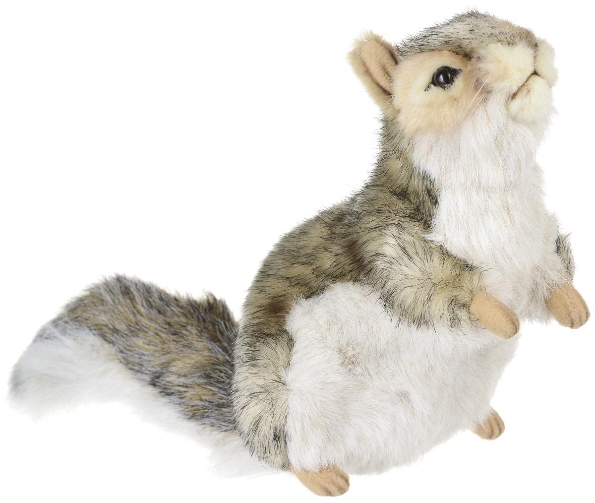 Hansa Toys Мягкая игрушка Белка 18 см5676Белки - род грызунов семейства беличьих. Варьируются в размерах от карликовых белок из Африки, длина которых около 13 см, до гигантских белок Южной Азии, размером около 90 см. У белки удлиненное тело с пушистым длинным хвостом, уши длинные, с кисточками, цвет темно-бурый с белым брюшком, иногда серый. Обитают повсюду, кроме Австралии. Живет белка преимущественно на деревьях, питание в основном овощи (особенно орехи, семечки). В помете 3-5 детенышей. Мягкая игрушка Hansa Toys Белка обязательно понравится вам и вашему малышу, а также познакомит вас с этим животным.