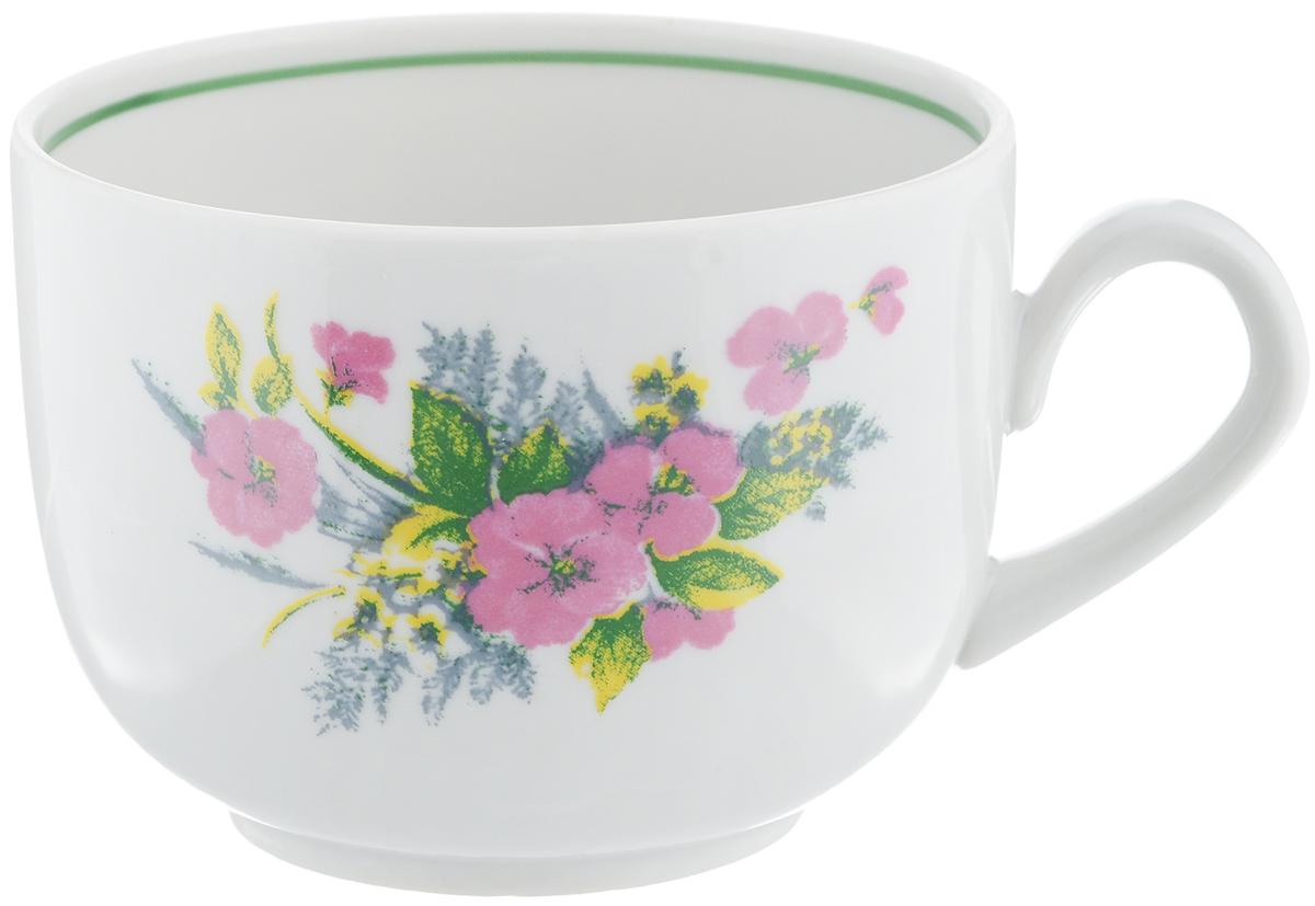 Чашка чайная Фарфор Вербилок Август. Виола, 300 мл767075КЧайная чашка Фарфор Вербилок Август. Виола способна скрасить любое чаепитие. Изделие выполнено из высококачественного фарфора. Посуда из такого материала позволяет сохранить истинный вкус напитка, а также помогает ему дольше оставаться теплым. Диаметр по верхнему краю: 8,5 см. Высота чашки: 6,5 см.