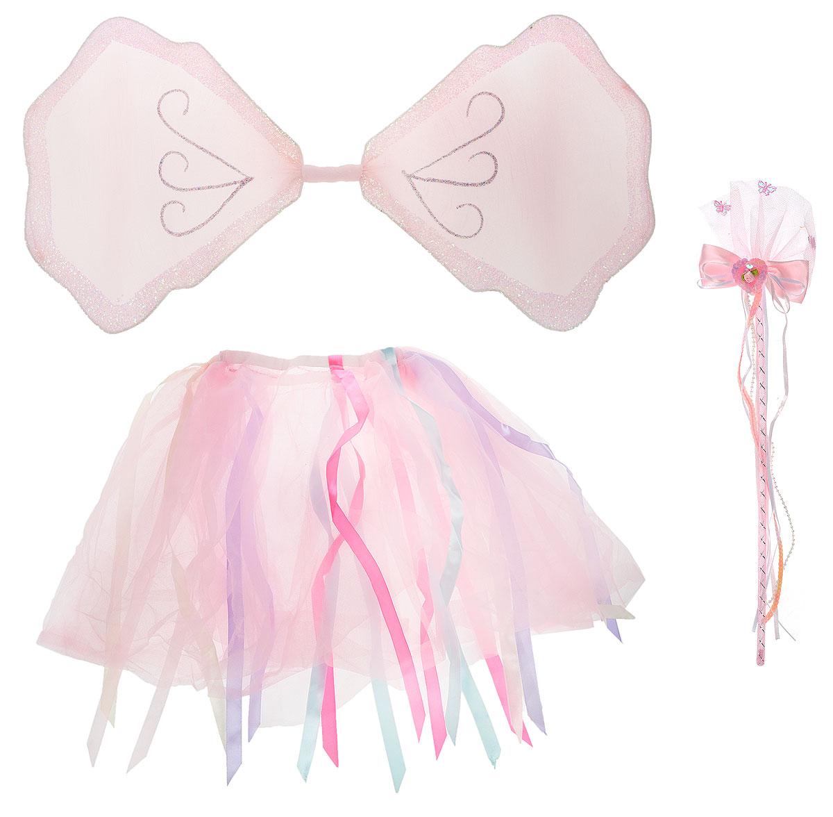 House & Holder Карнавальный костюм для девочки БабочкаJAP1407BДетский карнавальный костюм House & Holder Бабочка, выполненный из полиэстера розового цвета, позволит вашей малышке быть самой интересной героиней на детском утреннике, маскараде и других мероприятиях. Костюм состоит из крыльев бабочки, юбки и волшебной палочки. Крылья с жестким металлическим каркасом обтянуты капроновой тканью и декорированы блесками. Одеваются с помощью двух лямок на резинках. Юбка выполнена из двухслойной сетчатой ткани, посажена на резинку и декорирована разноцветными лентами. Волшебная палочка выполнена из пластика розового цвета, декорирована бантом, лентами, бусами, пайетками, кусочком сетчатой ткани и розовыми бабочками. Такой костюм привлечет внимание друзей вашего ребенка и подчеркнет его индивидуальность. Веселое настроение и масса положительных эмоций будут обеспечены!