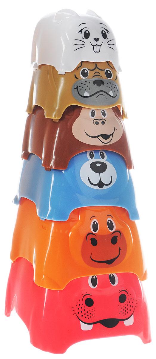 Playgo Пирамидка ЖивотныеPlay 2370Пирамидка Playgo Животные представляет собой 6 стаканчиков разного диаметра с изображениями животных, которые можно складывать один в другой или выстраивать из них высокую башню. Эта игрушка будет способствовать развитию зрительного восприятия, смекалки, усердия, тактильных ощущений. Ваш малыш, играя в пирамидку, будет изучать цвета и сравнивать размеры стаканчиков.