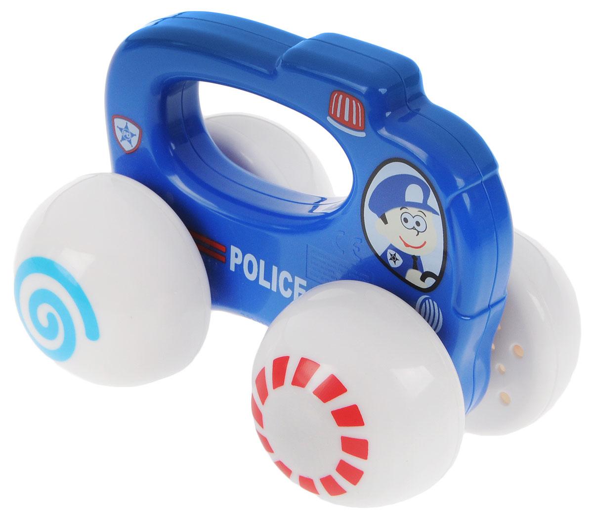 Playgo Развивающая игрушка Полицейская машинаPlay 1666Развивающая игрушка Playgo Полицейская машина своим ярким оформлением будет привлекать внимание малыша. Необычный дизайн сразу заинтересует ребенка. Игрушка изготовлена из качественного пластика и окрашена в синий цвет. Большие гладкие белые колеса имеют разноцветные рисунки. Такая забавная игрушка будет формировать представление о цветах и формах, способствовать развитию мелкой моторики.