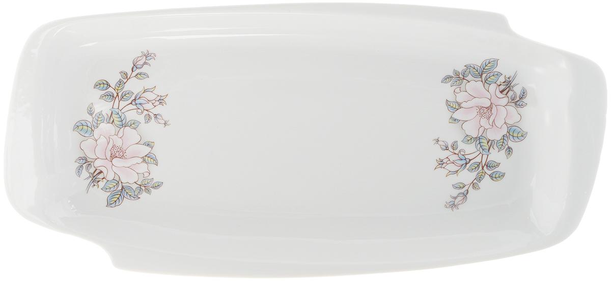 Селедочница Фарфор Вербилок Контесса, цвет: белый, розовый, длина 28,5 см19030610Селедочница Фарфор Вербилок Контесса станет прекрасным украшением праздничного стола. Изящный дизайн и красочность оформления придутся по вкусу и ценителям классики, и тем, кто предпочитает утонченность и изысканность. Так как в селедочнице можно также увидеть нарезки и другие яства, ее можно считать многофункциональной. Такое изделие украсит сервировку вашего стола и подчеркнет прекрасный вкус хозяина, а также может стать отличным подарком.