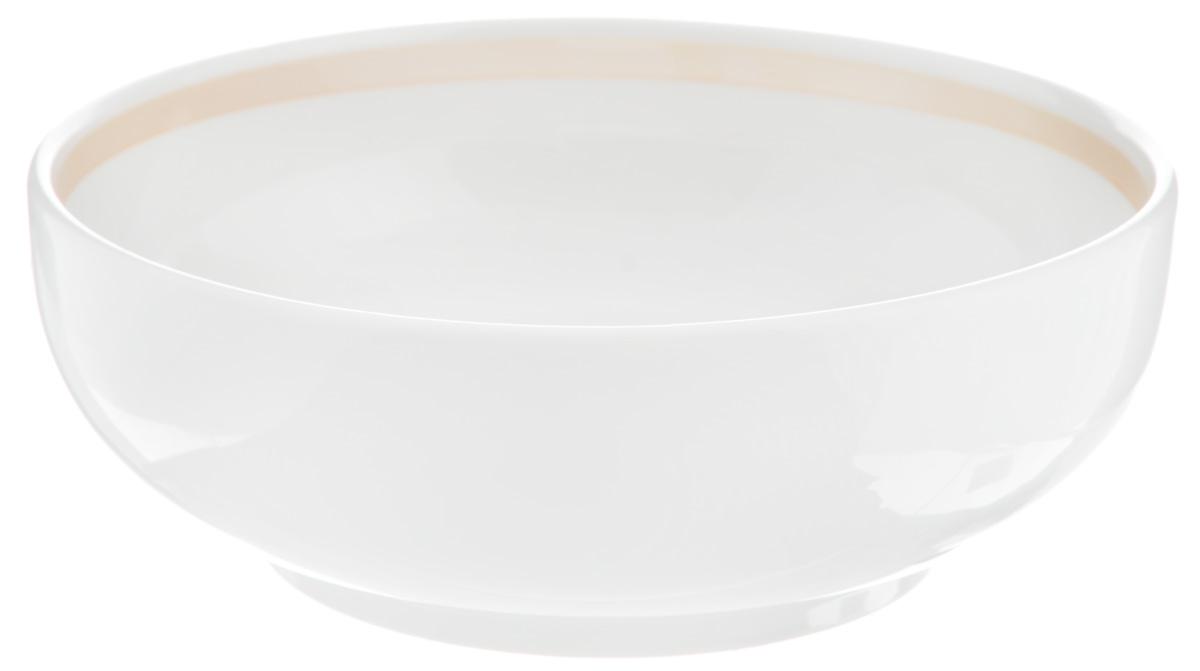 Салатник Фарфор Вербилок, 600 мл17741240Салатник Фарфор Вербилок изготовлен из высококачественного фарфора. Такой салатник будет смотреться не только стильно, но и элегантно. Он дополнит коллекцию кухонной посуды и будет служить долгие годы. Диаметр салатника по верхнему краю: 16 см. Диаметр основания: 10 см. Высота салатника: 5 см.