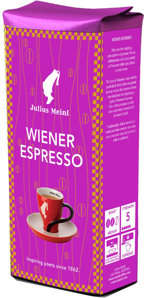 Julius Meinl Венский эспрессо кофе в зернах, 250 г84606Классическая венская обжарка придает этому кофе легкие фруктовые ноты и мягко раскрывает терпкий вкус. Традиционно, эспрессо в венских кофейнях подается на серебряном подносе со стаканом воды для чистоты вкуса.