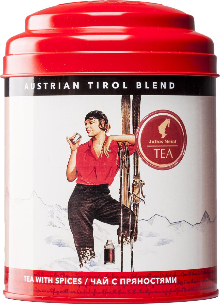 Julius Meinl Тирольский бленд черный листовой чай с пряностями, 100 г86897Австрия славится своими горнолыжными курортами, а они, в свою очередь, особым чайным рецептом – тирольским охотничьим чаем Jagertee. Это высокогорный черный чай с печеными нотками и пряными добавками.