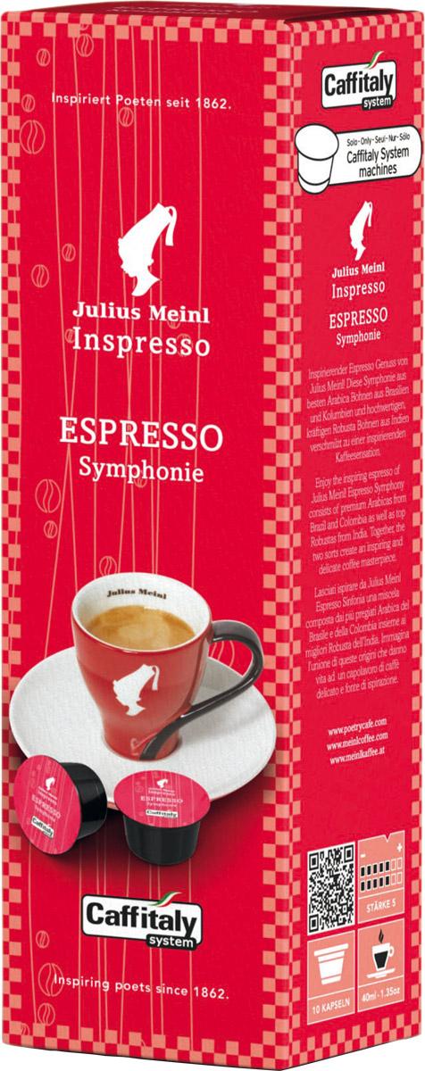 Julius Meinl Эспрессо Симфония капсульный кофе, 10 шт82229Насыщенный вкус темного шоколада с терпкой кислинкой и бархатистой текстурой.