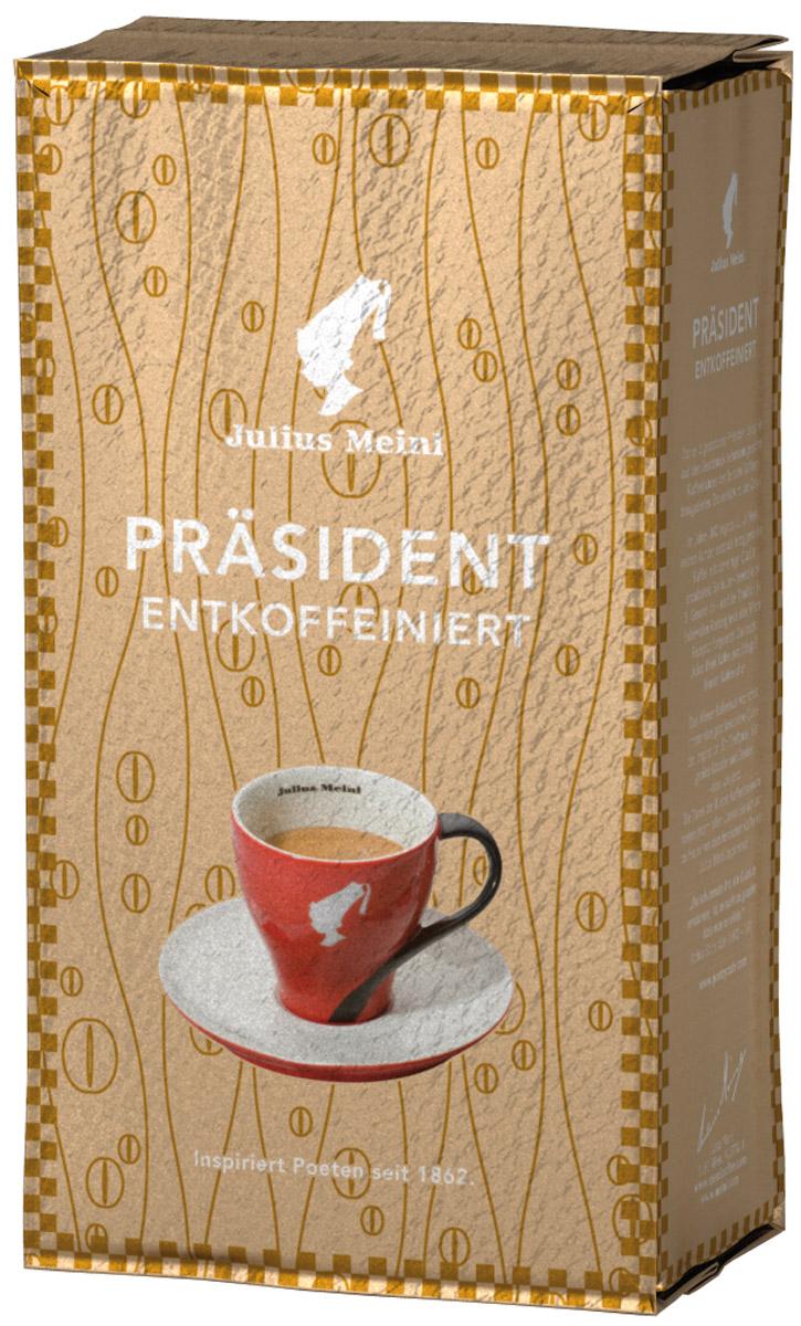 Julius Meinl Президент кофе молотый без кофеина, 250 г82136Бленд, созданный на основе лучших кофейных зерен из Восточной Африки, обладает богатым ароматом с легкой кислинкой. Уровень кофеина минимальный и соответствует австрийским стандартам – всего 0,08%.