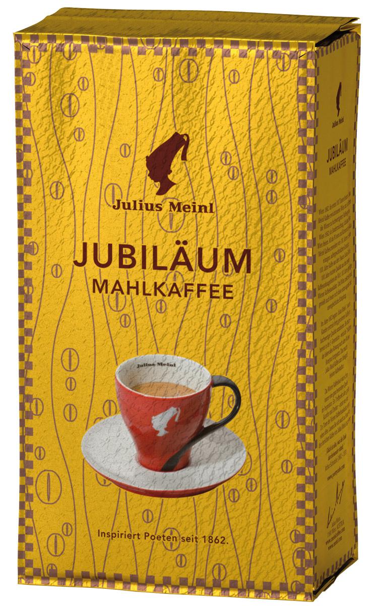 Julius Meinl Юбилейный кофе молотый, 250 г82272Премиальный бленд традиционной венской обжарки из лучших зерен, собранных на высокогорных плантациях Центральной Америки и Папуа Новой Гвинеи. Был создан 50 лет назад в честь празднования 100-летнего юбилея компании Julius Meinl.