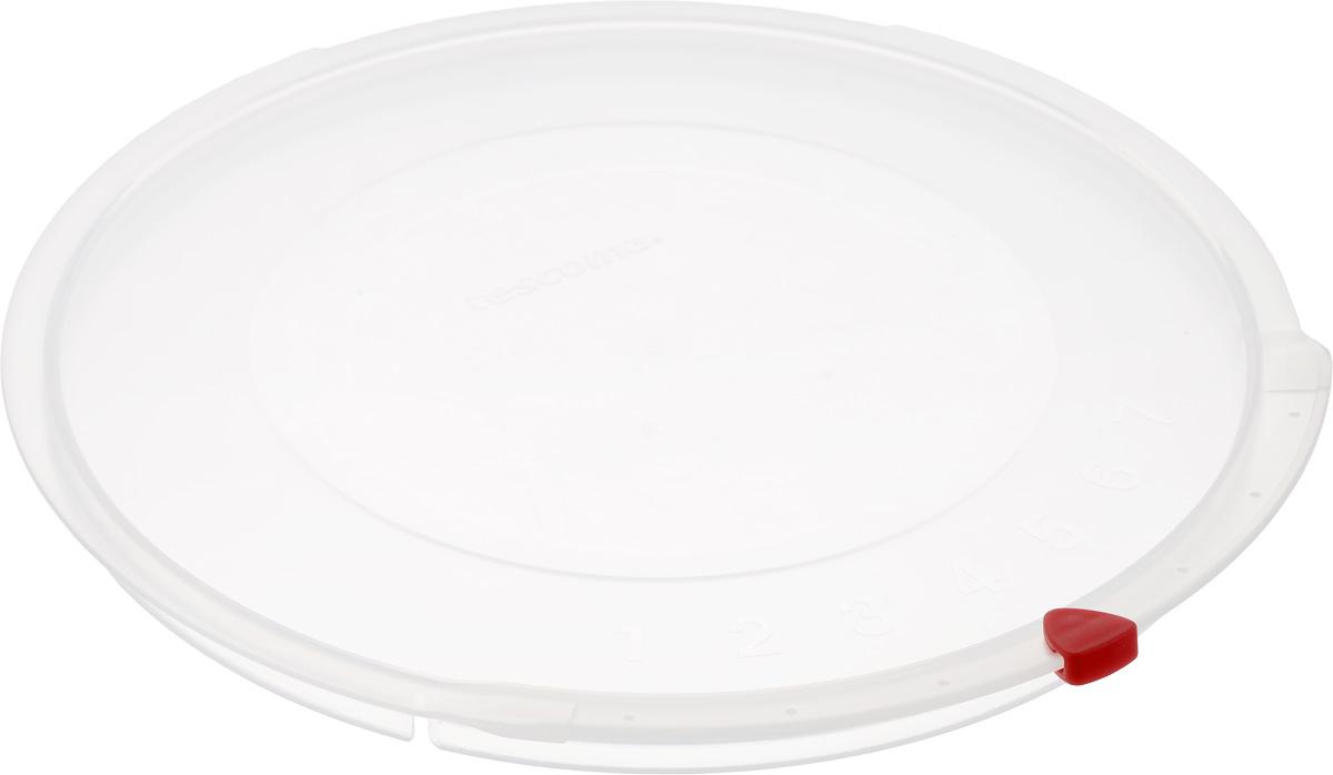 Крышка Tescoma Unicover, диаметр 24 см782824Крышка Tescoma Unicover используется при хранении еды, для закрытия высоких кастрюль, кастрюль и ковшей из нержавеющей стали. Плоская форма крышки позволяет складывать посуду в целях экономии места в холодильнике. Пища, закрытая пластиковой крышкой, не высыхает и не впитывает запахи других продуктов питания. На крышке имеется семидневный датировщик для индикации с первого дня хранения. Изделие выполнено из пластмассового материала, предназначенного для медицинских и фармацевтических целей. Можно мыть в посудомоечной машине. Подходит для кастрюль диаметром 24 см. Диаметр крышки (по верхнему краю): 25,5 см.
