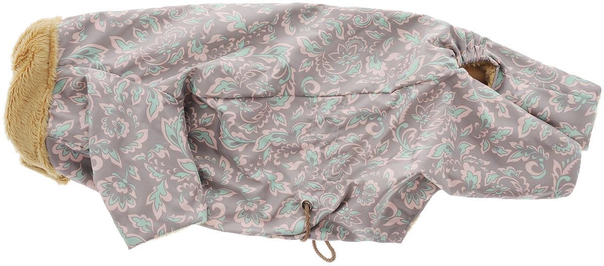 Комбинезон для собак Osso Fashion, для девочки, цвет: серый, розовый, бежевый. Размер 25Кдм-1005_бежевыйТеплый демисезонный комбинезон Osso Fashion на меховой подкладке выполнен из практичного, непромокаемого, плотного полиэстера. За счет регулировки объёма комбинезона с помощью шнура- утяжки, хозяин без проблем сможет подобрать нужный размер своему питомцу. Меховая подкладка и стильный воротник не только согреют собаку, но и позволят ей чувствовать себя естественно и свободно. Воротник комбинезона оторочен меховой подкладкой и оснащен кнопкой, он закрывает шею собаки от ветра и осадков. Подходит для собак мелких пород. Длина спинки: 25 см. Объем груди: 42 см.