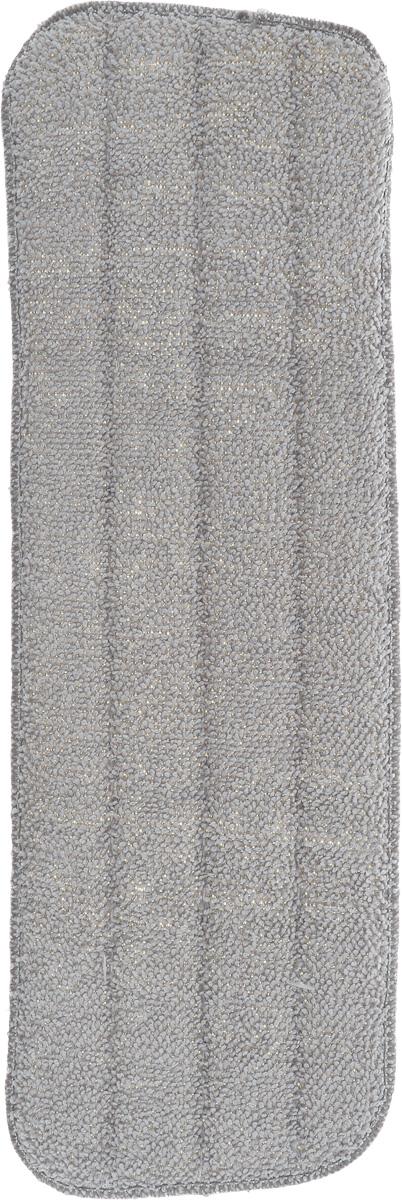 Насадка для швабры-спрей Youll love, сменная, 14 х 41 см70063Сменная насадка для швабры Youll love выполнена из микрофибры (85% полиэстер, 15% полиамид). Насадки из микроволокна обладают несколькими важными достоинствами: микроволокно в сухом виде в процессе протирания поверхности электризуется и притягивает к себе мельчайшие частицы пыли, а не разгоняет их по комнате. При влажной уборке, благодаря способности микрофибрового волокна поглощать влагу в семь раз больше самой ткани, насадка хорошо впитывает и удерживает влагу, забирает в структуру ткани любые загрязнения, не оставляет разводов. Крученые петли работают как деликатный абразив и усиливают впитывающие свойства микрофибры. Использование насадки для швабры Youll love позволяет очистить любые поверхности от пыли и грязи без использования химических средств.