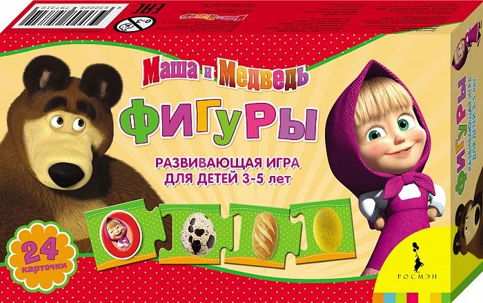 Маша и Медведь Обучающая игра Фигуры978-5-496-01866-1