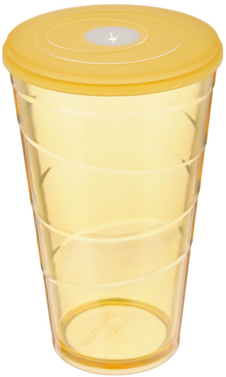 Стакан Tescoma My Drink, с крышкой, цвет: оранжевый, 600 мл308806.17Стакан Tescoma My Drink выполнен из нетоксичного прочного пластика и абсолютно безопасен в ежедневном использовании. Проверенная технология европейского производства обеспечивает безопасность даже при долгом соприкосновении с пищевыми продуктами или жидкостями. В крышке имеется гибкое отверстие для соломинки. Можно мыть в посудомоечной машине на щадящих программах, выдерживает температуру до 60°С. Диаметр стакана (по верхнему краю): 10 см. Высота стакана: 16 см. Объем стакана: 600 мл.