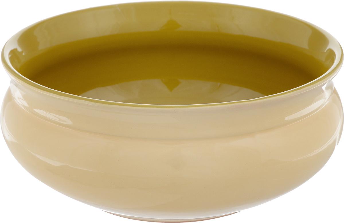 Тарелка глубокая Борисовская керамика Скифская, цвет: бежевый, горчичный, 800 млРАД14457937_бежевыйГлубокая тарелка Борисовская керамика Скифская выполнена из высококачественной керамики. Изделие сочетает в себе изысканный дизайн с максимальной функциональностью. Она прекрасно впишется в интерьер вашей кухни и станет достойным дополнением к кухонному инвентарю. Тарелка Борисовская керамика Скифская подчеркнет прекрасный вкус хозяйки и станет отличным подарком. Можно использовать в духовке и микроволновой печи. Диаметр тарелки (по верхнему краю): 16 см. Объем: 800 мл.
